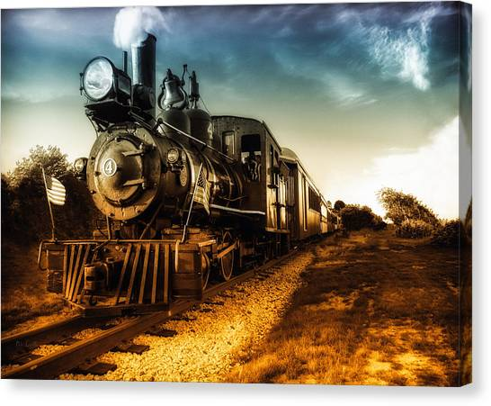 Loft Canvas Print - Locomotive Number 4 by Bob Orsillo