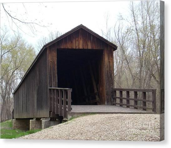 Locust Creek Covered Bridge Canvas Print