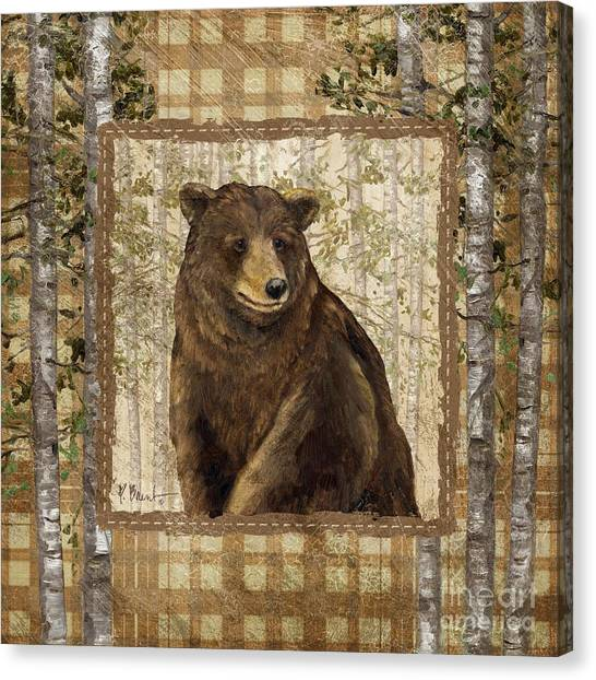 Plaid Canvas Print - Lodge Portrait II by Paul Brent