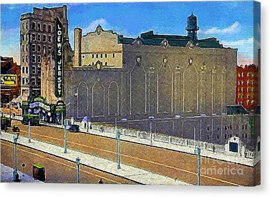 Loew's Jersey Theatre In Jersey City N J Around 1930 Canvas Print