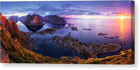 Lofoten Sunrise Canvas Print by Sorin Tanase