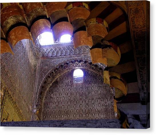 Lofty Arches - Mezquita Canvas Print by Jacqueline M Lewis