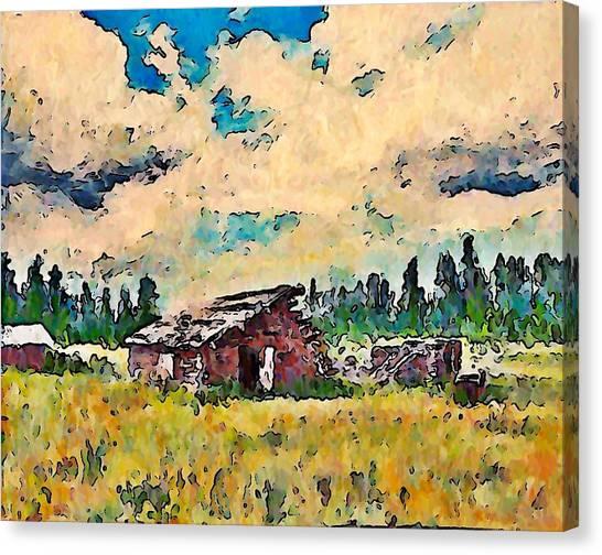Log Building Douglas Lake  Canvas Print