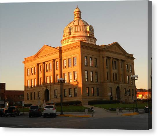 Logan County Courthouse  Lincoln Canvas Print