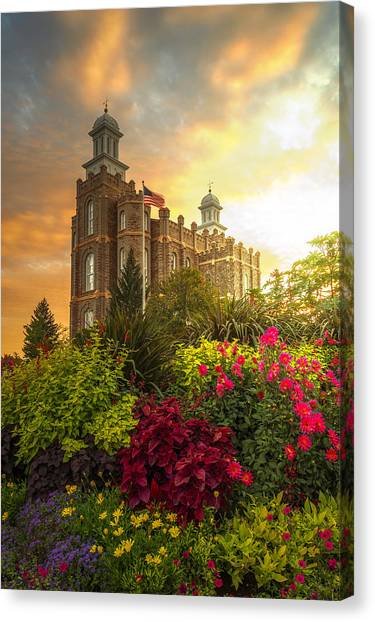 Logan Temple Garden Canvas Print