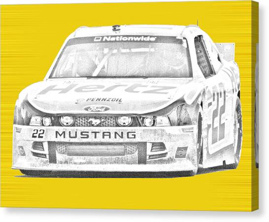 Joey Logano Canvas Print - Logano's Nationwide by Gary Nelson