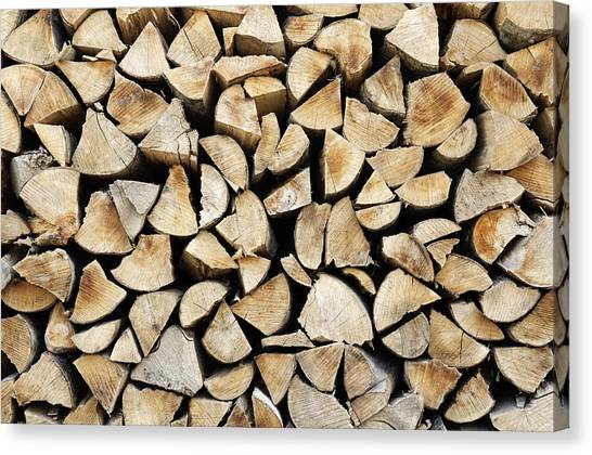 Logs Background Canvas Print