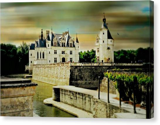 Chenonceau Castle Canvas Print - Loire Valley Chateau by Diana Angstadt