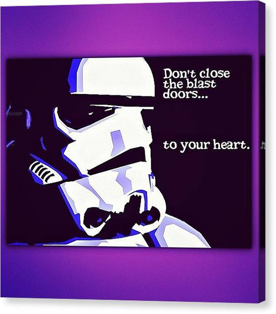 Stormtrooper Canvas Print - Lol. I Gotta Get My #starwars In This by Melina Perez