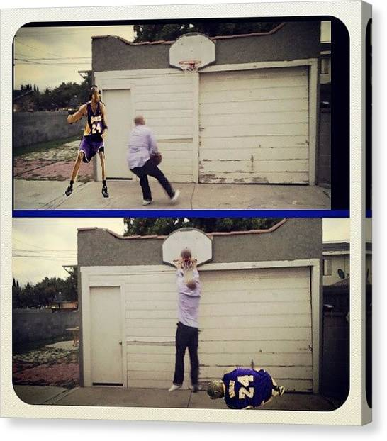 Kobe Bryant Canvas Print - Lol #normalsunday #dunking On #kobe by Jp Preciado