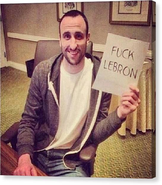 Spurs Canvas Print - Lol Somebody Asked Ginobili  If He by Kosi F