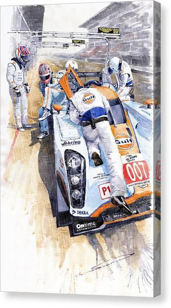 Racing Canvas Print - Lola Aston Martin Lmp1 Gulf Team 2009 by Yuriy Shevchuk
