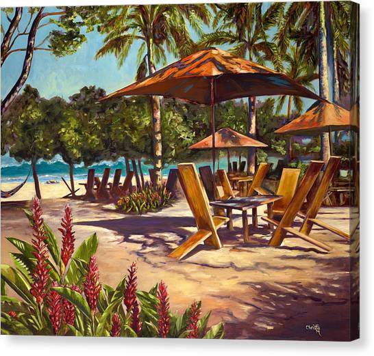 Pig Canvas Print - Lola's In Costa Rica by Christie Michael