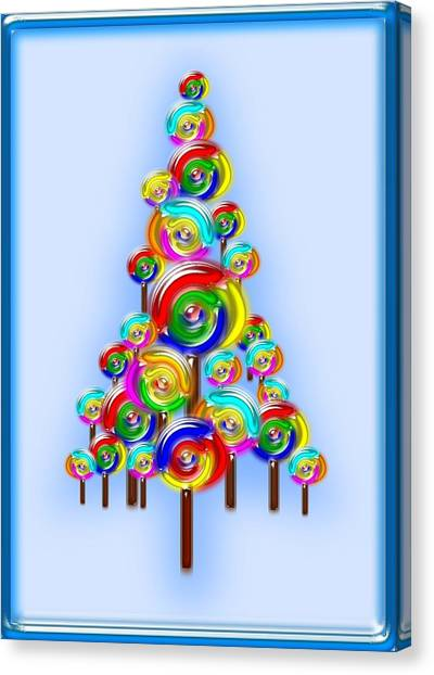 Lollipop Tree Canvas Print