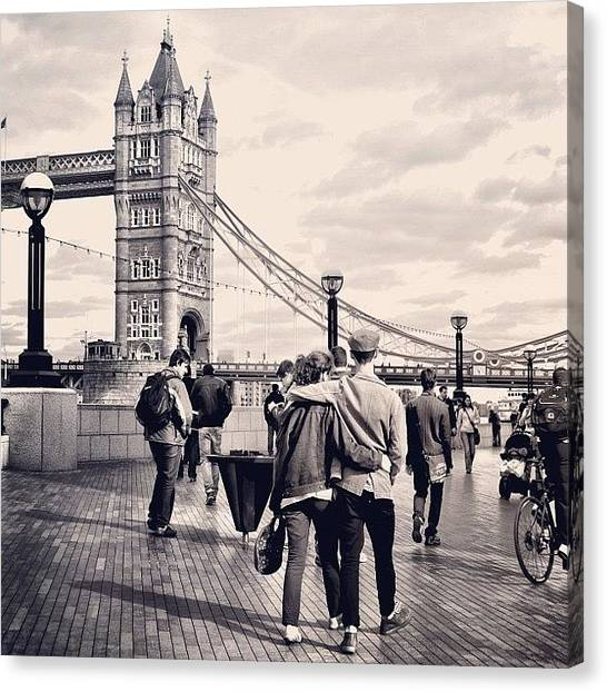 Tower Of London Canvas Print - London  by Faye Sanna