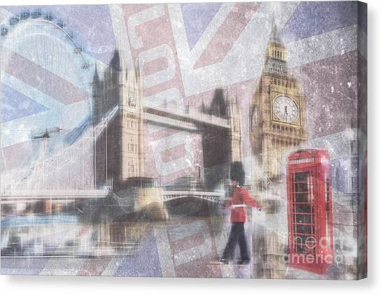 London Blue Canvas Print