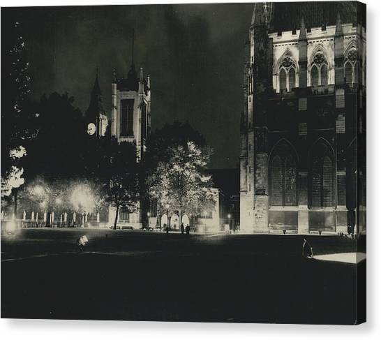 London Buildings Flood-lit Once Again� Canvas Print by Retro Images Archive