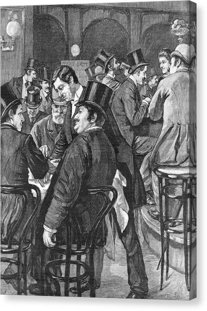 London Businessmen At Lunch, 1891 Canvas Print by  Illustrated London News Ltd/Mar