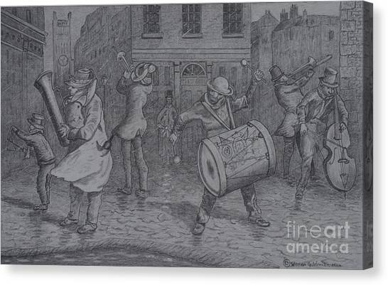 London Buskers 1853 Canvas Print