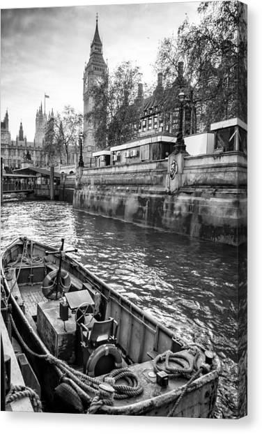 Stephen Barry Canvas Print - London Dock by Glenn DiPaola