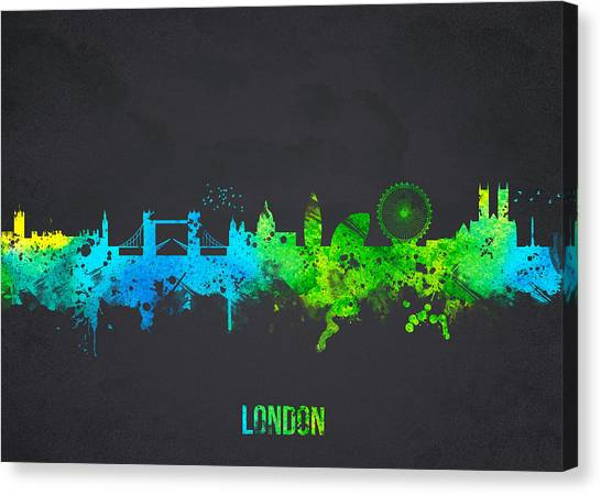 Canaries Canvas Print - London England by Aged Pixel