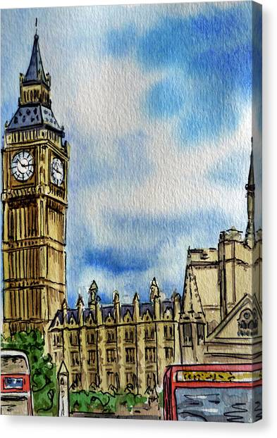 London Canvas Print - London England Big Ben by Irina Sztukowski