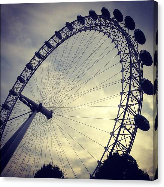 London Eye Canvas Print - London Eye by Ben Leacock