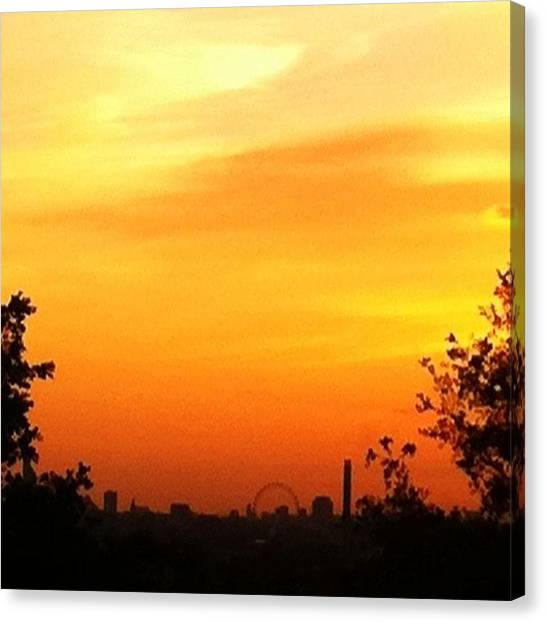 London Eye Canvas Print - London Eye From Blackheath. No Filter by James McCartney