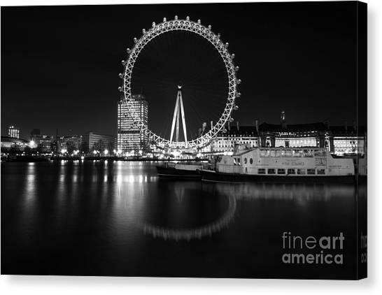 London Eye Mono Canvas Print