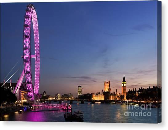 London Eye Canvas Print - London Eye by Rod McLean