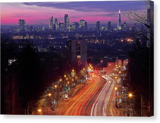 London From The Hornsey Lane Bridge Canvas Print by By Andrea Pucci