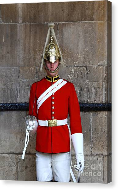 Royal Guard Canvas Print - Life Guard On Duty London by James Brunker