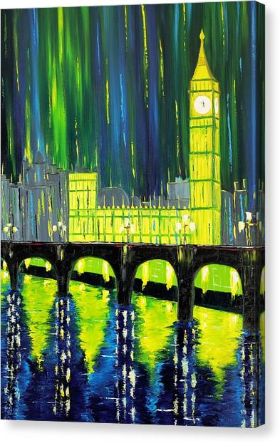 Limelight Canvas Print - London Limelight by Galina Zimmatore