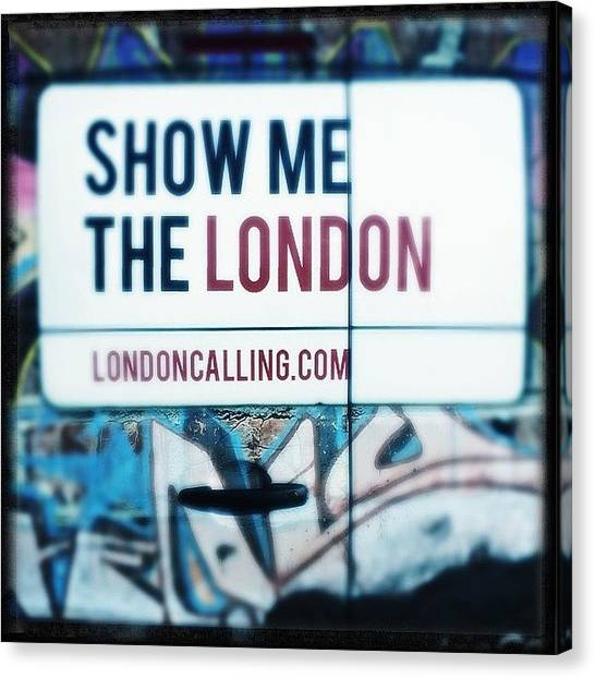 Metropolis Canvas Print - #london #londoncalling #advertising by Niels Koschoreck