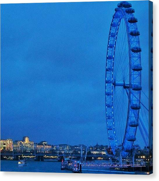 London Eye Canvas Print - #london #londoneye #eye by Maciej Platek