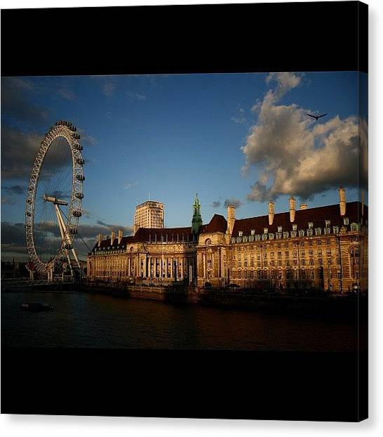 London Canvas Print - #london #londoneye #westminsterbridge by Ozan Goren