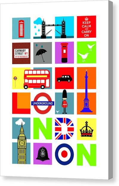 London Canvas Print - London by Mark Rogan