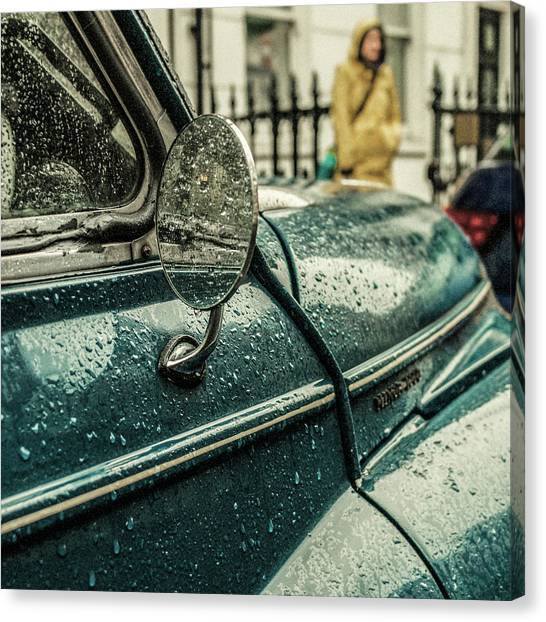 Retro Canvas Print - London Rain by Riccardo Berg