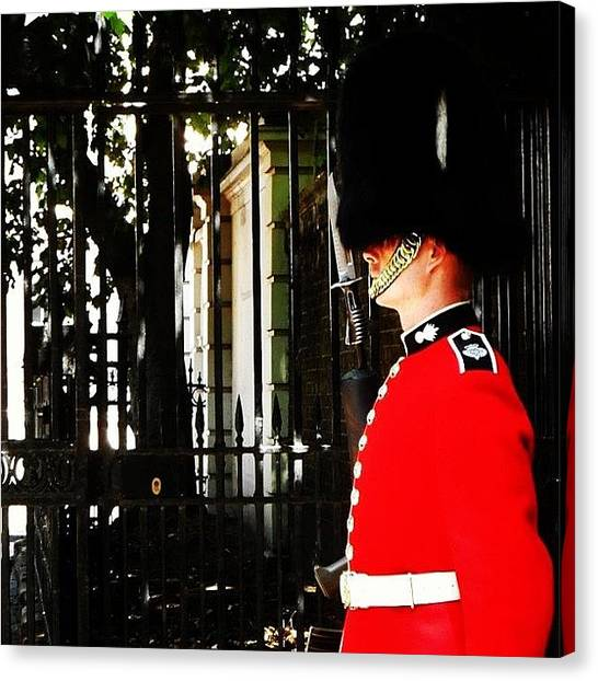Royal Guard Canvas Print - #london #royal #guard #weekend by Louise Flowers