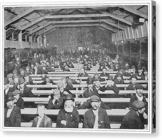Salvation Army Canvas Print - London  Salvation Army  Shelter by Mary Evans Picture Library