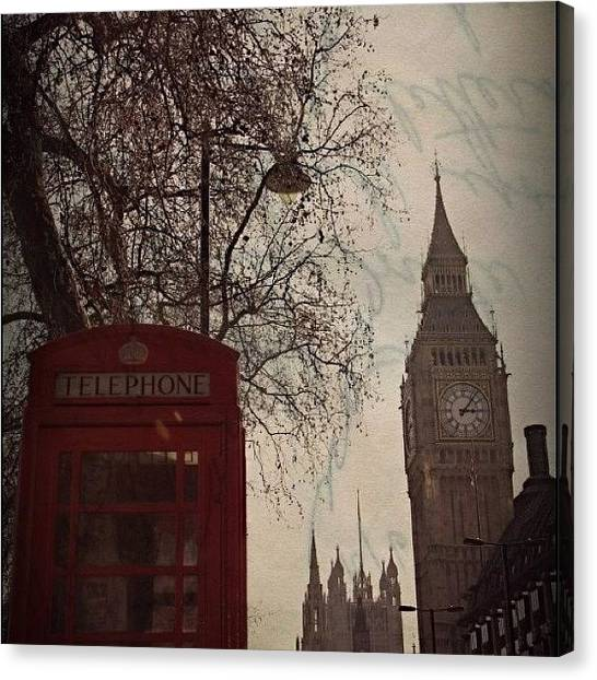 Big Ben Canvas Print - London Skies by Krista Hudson