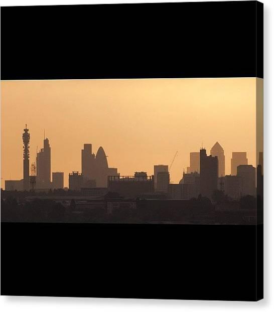 London Skyline Canvas Print - #london #skyline Just After #sunrise In by Londonshadow Londonshadow