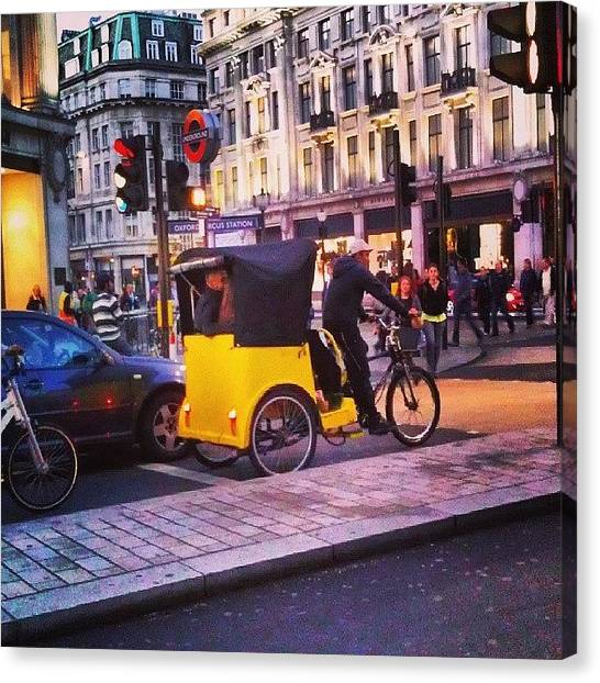 London Canvas Print - #london #street  #streetphoto #cars by Abdelrahman Alawwad