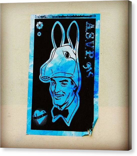 Donkeys Canvas Print - #london #streetart #londonstreetart by Jason Emmett
