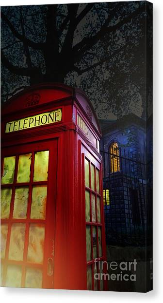 Tardis Canvas Print - London Tardis by Jasna Buncic
