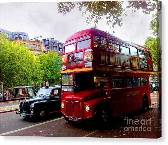 London Taxi And Bus Canvas Print