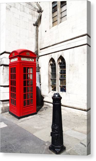 London Telephone Box Canvas Print