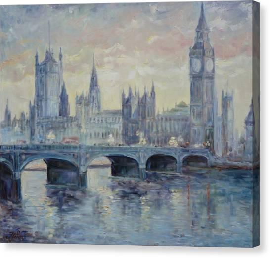 London Westminster Bridge Canvas Print