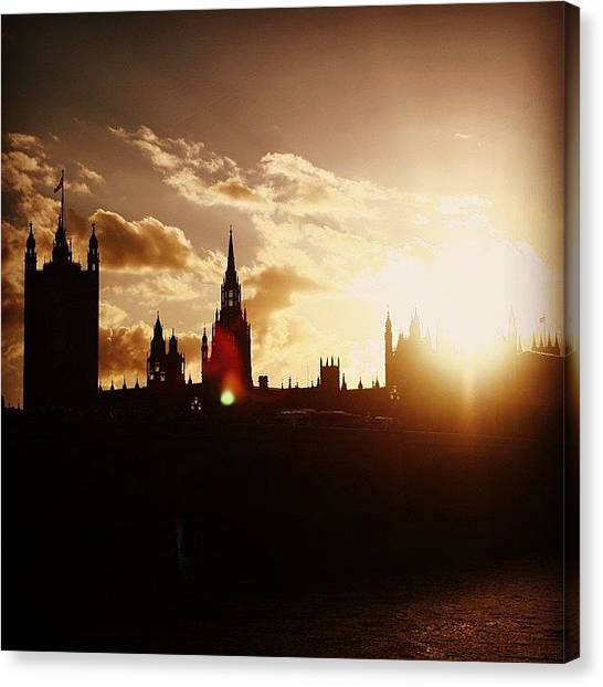 London Canvas Print - #london #westminster #parliamenthouse by Ozan Goren