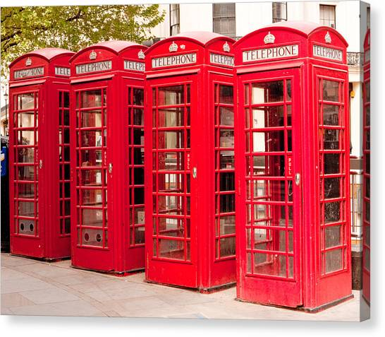 London's Red Phone Boxes Canvas Print